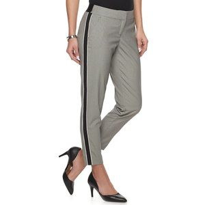 NEW! Apt 9 Houndstooth Side Piecing Ankle Trouser